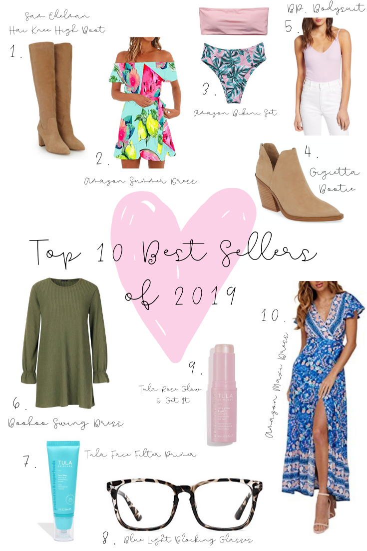top 10 best sellers from 2019
